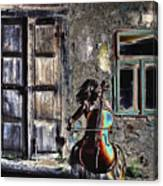 Hear The Cello Sing Canvas Print