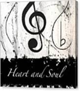 Heart And Soul - Music In Motion Canvas Print