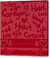 Heart Art Canvas Print