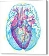 Heart Brain Canvas Print