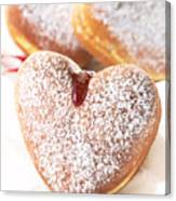 Heart Donuts Canvas Print