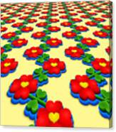 Heart Flowers Canvas Print