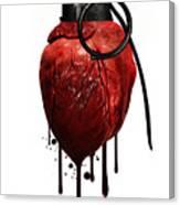 Heart Grenade Canvas Print