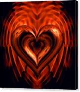 Heart In Flames Canvas Print
