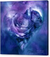 Heart Of A Rose - Lavender Blue Canvas Print