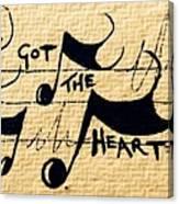 Heart Of A Star Canvas Print