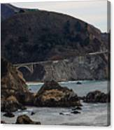 Heart Of The Bixby Bridge Canvas Print