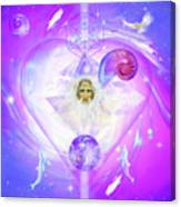 Heart Of The Violet Flame Canvas Print