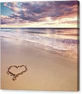 Heart On The Beach Canvas Print