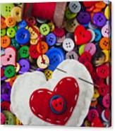 Heart Pushpin Chusion  Canvas Print