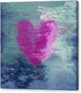 Heart Waves Canvas Print