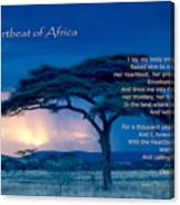 Heartbeat Of Africa Canvas Print