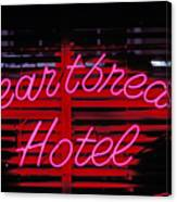 Heartbreak Hotel Neon Canvas Print