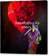 Heartistically Yours Canvas Print