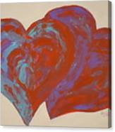 Hearts A-flutter Canvas Print