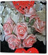 Hearts And Roses Canvas Print