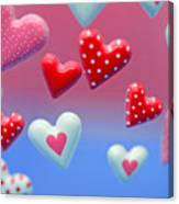 Hearts Hearts And More Hearts Canvas Print