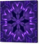 Hearts Of Purple Kaleidoscope Canvas Print