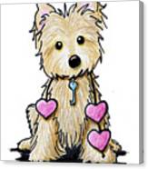 Heartstrings Cairn Terrier Canvas Print