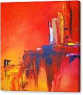Heated Abstraction Canvas Print