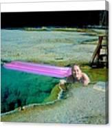 Heated Pool Canvas Print