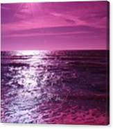 Heaven Shines Purple Canvas Print