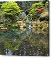 Heavenly Falls And The Swirly Lower Pond Canvas Print