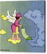 Heavenly Housekeeper Canvas Print