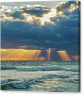 Heavenly Sunrise Panorama At Riviera Beach  Canvas Print