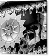 Heavy Metal In Gray Canvas Print