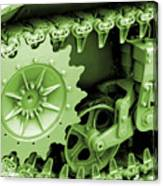 Heavy Metal In Green Canvas Print