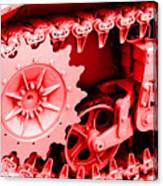 Heavy Metal In Red Canvas Print