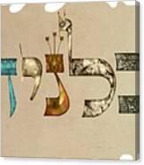 Hebrew Calligraphy- Calanit Canvas Print
