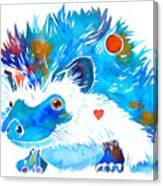 Hedgehog With Heart Canvas Print