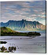 He'eia Fish Pond And Kualoa Canvas Print