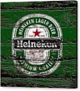 Heineken Beer Wood Sign 2 Canvas Print