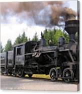 Heisler Steam Engine Number 6 Canvas Print