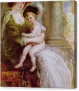 Helene Fourment And Her Son Frans Canvas Print