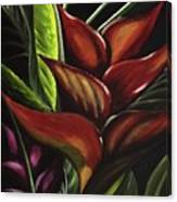 Heliconia Flower Canvas Print