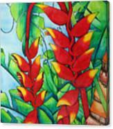 Heliconia Study Canvas Print