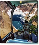 Helicopter On Glacier National Park Canvas Print