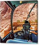 Helicopter On Monastery Of St Catherine Canvas Print