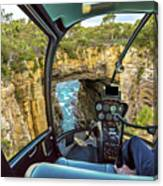 Helicopter On Tasman Arch Canvas Print