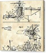 Helicopter Patent 1940 - Vintage Canvas Print