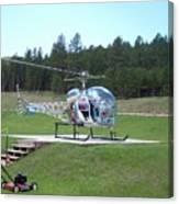 Helicopter Ride South Dakota Canvas Print