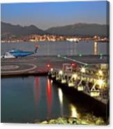Heliport In The Vancouver's Port Canvas Print