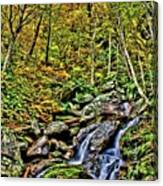 Hellbrook Cascades In Autumn Canvas Print