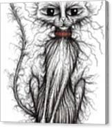 Hello Fuzzy Cat Canvas Print