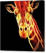 Hello Giraffe Canvas Print