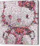 Hello Kitty Button Mosaic Canvas Print